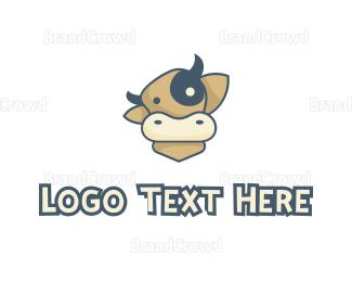 Farm - Cartoon Cow logo design