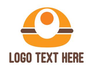 Meat - Egg Burger logo design