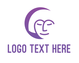 Facial Care - Relaxing Woman logo design