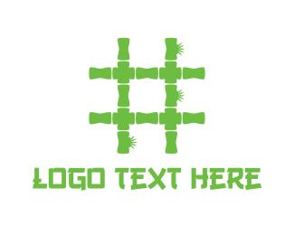 Dial - Bamboo Hashtag logo design