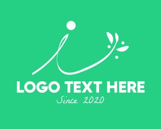 Natural Product - Floral Leaf Letter I logo design