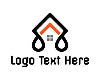 Black House - Abstract House Roof logo design