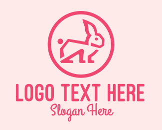 Rabbit Ears - Pink Rabbit logo design
