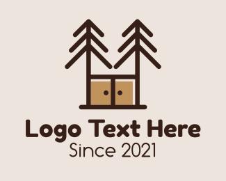 Furniture - Pine Cabinet Furniture logo design