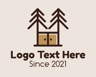 Pine - Pine Cabinet Furniture logo design