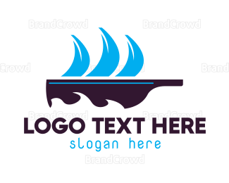 Whiskey - Bottle Boat logo design