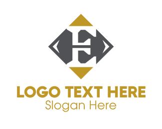 Edinburgh - Classic Letter E Diamond  logo design