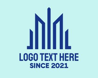 Property - Blue Property Construction logo design
