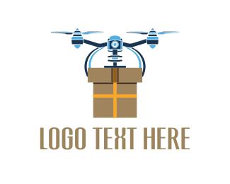 Uav - Drone Box logo design