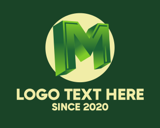 Advertising Agency - 3D Circular Letter M logo design
