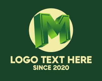 3d Printing - 3D Circular Letter M logo design
