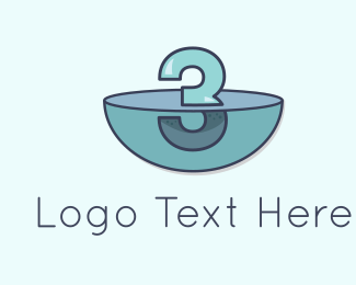 Three - Underwater Three logo design