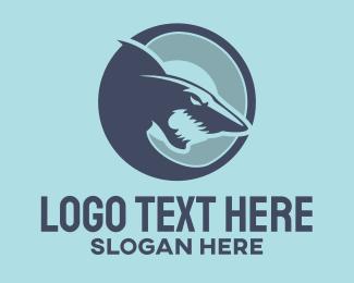 Predator - Red Shark logo design