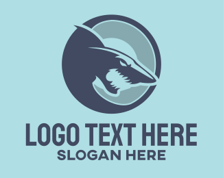 Record Label - Red Shark logo design