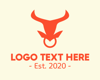 Nose Ring -  Bull Nose Ring  logo design