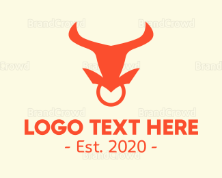 Ring -  Bull Nose Ring  logo design