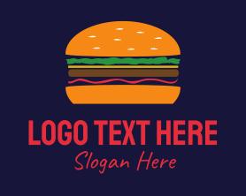 Burger - Bacon Hamburger Burger logo design