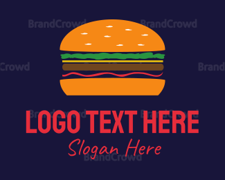 Bread - Orange Hamburger logo design