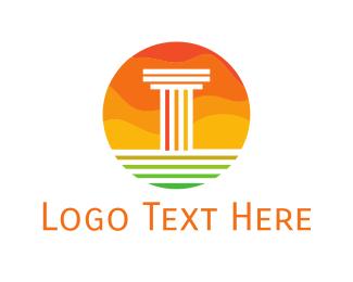 Column - Sun Column logo design