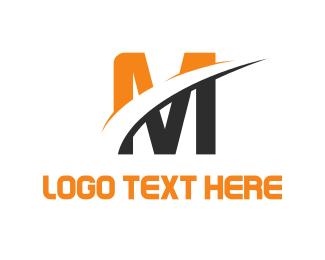 Black - Tech Letter M logo design