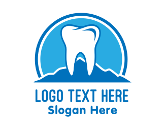 Teeth - Mountain Tooth Dentist logo design