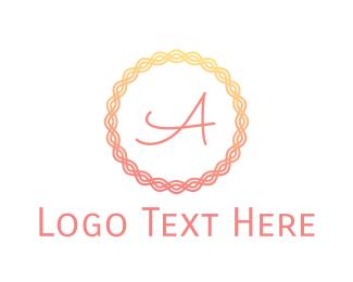 Makeup Artist - Gradient Pink Ring logo design