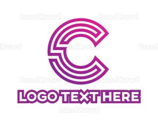 Messenger - Purple C Gaming logo design