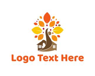 Maple - Autumn Tree logo design