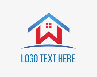 Letter - Home Letter W logo design