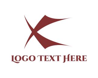 Alphabet - Red X logo design