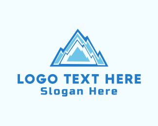Glacial - Ice Mountain  logo design