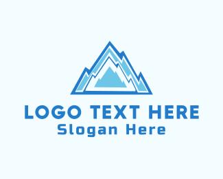 Cold - Ice Mountain  logo design