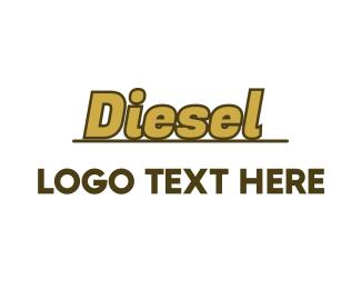 Rally - Gold Diesel Wordmark logo design