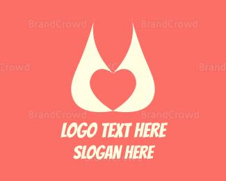 Naughty - Abstract Heart logo design