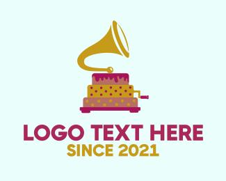 Cake - Cake Phonograph logo design