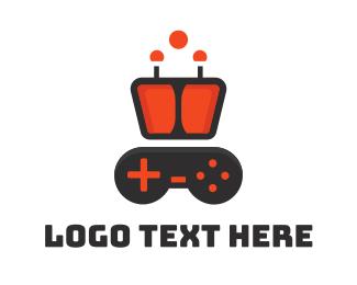 Esports - Robot Controller logo design