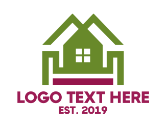Real Estate Agent - Double Roof House logo design