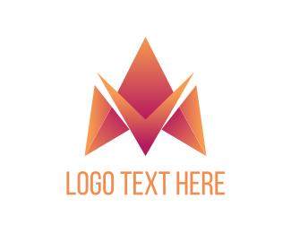 Letter - Letter M Triangle logo design