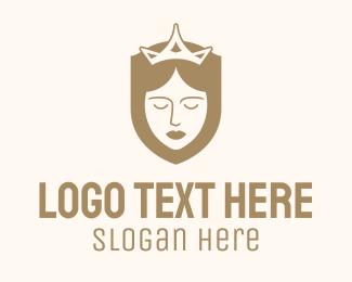Queen - Gold Queen Veil logo design