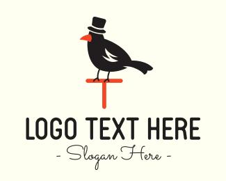 Hat - Black Bird Hat logo design