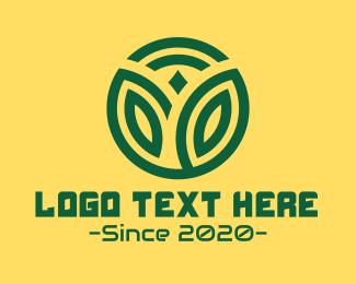 Genetics - Green Wireless Tech Plant logo design