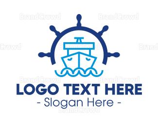 Marine - Marine Wheel Ship logo design