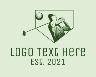 Player - Minimalist Golf Player logo design