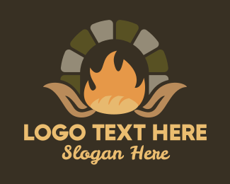 Dough - Wood Fired Oven Bread logo design