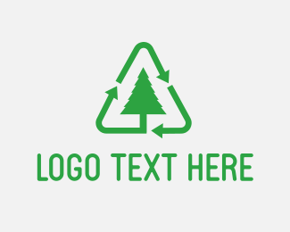Environment - Green Tree Recycle logo design