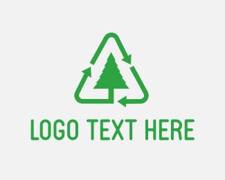 Reuse - Green Tree Recycle logo design