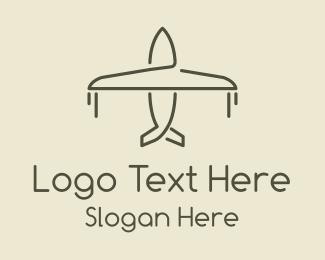 Pilot - Minimalist Airplane logo design