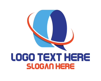 Text - Blue Letter Q logo design