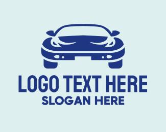 Car Service - Blue Car Dealer logo design