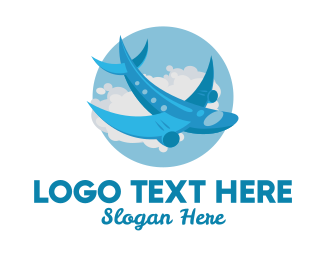 Flight - Airplane Jet Flight logo design